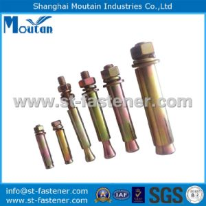 Carbon Steel Yellow Zinc Plated Expansion Bolt
