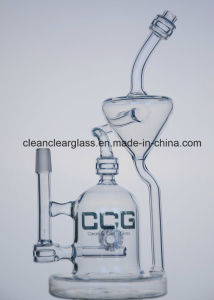 Ccg 2016 New Design Glass Water Pipe Smoking Pipe Recycler with Matrix Perc