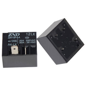 Zd4115p (T93) -A4lk-12V-30A Miniature Size Power Relay for Household Appliances &Industrial Use 30A Contact Sensitivity Switch pictures & photos