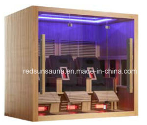 Sauna 2015 New Design Luxury Infrared Sauna with Massage Chair