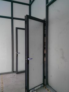 Frosted Glass Aluminum Office Partition (TS100) pictures & photos