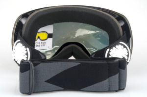 Interchangeable PC Lens Safety Glasses Snowboard Goggles with EVA Case pictures & photos
