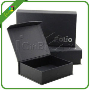 Wholesale Black Magnetic Closure Gift Box with Ribbon pictures & photos