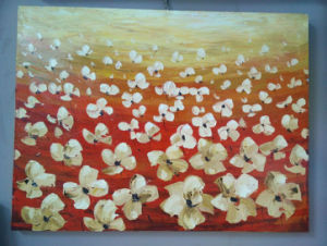 Abstract Flower Oil Painting for Living Room Wall Decoration (LH-029000) pictures & photos