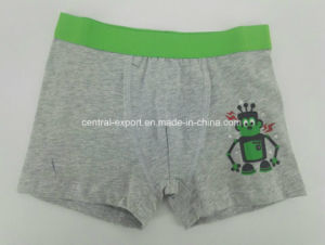 Water Print Solid Melange Children Underwear Boy Boxer Short Boy Brief pictures & photos