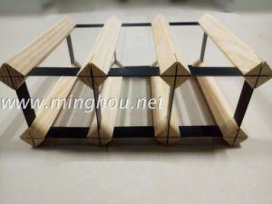 Customize 6 Bottle Wood Wine Rack Pine Wine Rack pictures & photos
