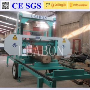 Diesel Engine Drive Portable Bandsaw Wheels Sawmill for Hardwood pictures & photos