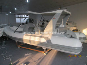 Yacht 520 Fiberglass Hull Inflatable Boat Motor Rib Boat Sale pictures & photos