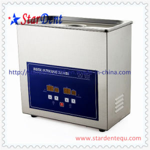 Dental 6.5L Stainless Steel Digital Tabletop Ultrasonic Cleaner of Hospital Equipment pictures & photos