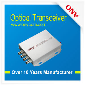 4 Channel Video Single Mode Fiber Optic Transceiver