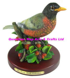 Polyresin Robin Statue, Resin Robin Crafts pictures & photos