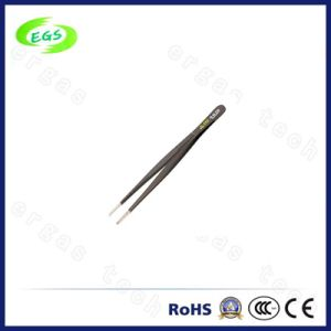 110mm Black Anti-Static ESD Plastic Tweezers pictures & photos