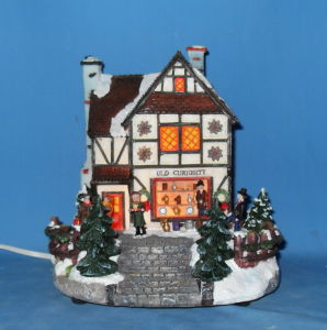 "8""Lighted House.  (11018)"