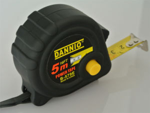 Black Plastic Case 5m/19mm Tape Measure (WAB01002)