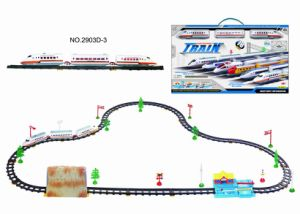 Battery Operated Railway Train with Cave & Train Station