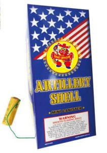 Artillery Shells Fireworks with Fiberglass Tubes Mini Canister Shell pictures & photos