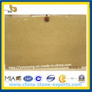Polished Rusty Yellow Granite Slab for Kitchen Countertop and Vanity Top pictures & photos