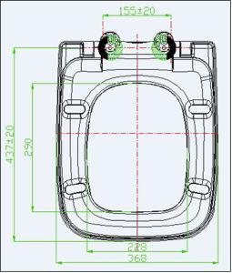 Duroplast Soft Close European Toilet Seat pictures & photos