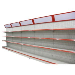 Single Supermarket Gondola Display Pegboard Shelf pictures & photos