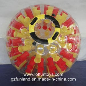 Colorful Inflatable Human Water Zorbing Roller Ball Game