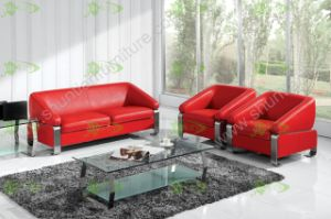 (SS-044) American Style Office Leisure PU Leather Sofa pictures & photos