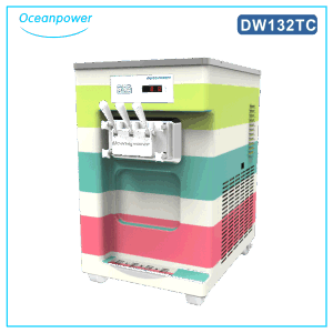 Dw132tc Table Top Rainbow Soft Ice Cream Machine pictures & photos