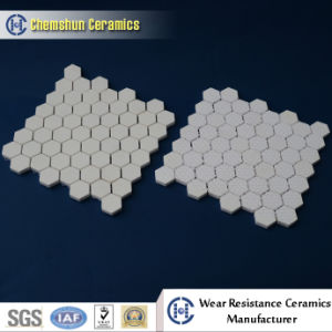 Alumina Ceramic Hex Tile Pasted in Net / Nylon as Wear Resisatnt Liner pictures & photos