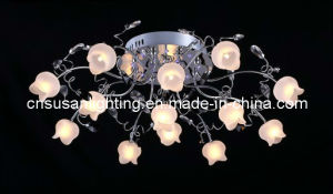 Halogen LED Glass Ceiling Lamp (MX9207/13)