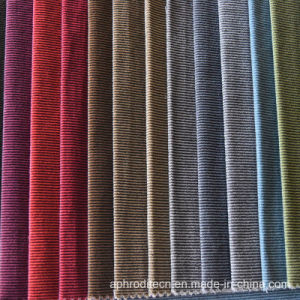 Two-Tone Polyester Microfiber Sofa Fabric with Striola pictures & photos