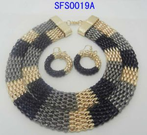 Fashion Jewelry Fashion Round Stones Necklace & Earring Set