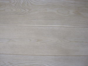 Oak Parquet Flooring With White Lacquered