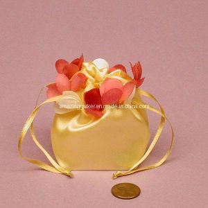 Gorgeous Satin Bag with Petal on The Top (AM-SB006)