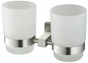 Double Glass Cup Holder Square Shape (F-5042) pictures & photos