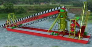 Simple Operation Smaller High Quality Bucket Chain Dredging Vessel