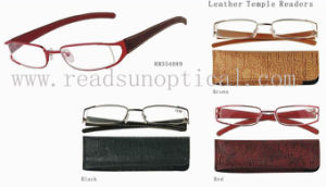 Stainless Steel Reading Glasses With Leather Temple (RM354089) pictures & photos