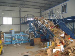 Hydraulic Full-Automatic Waster Paper Cardboard Carton Baler Recycling Machines pictures & photos
