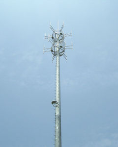 Galvanized Tower GSM Communication Tower