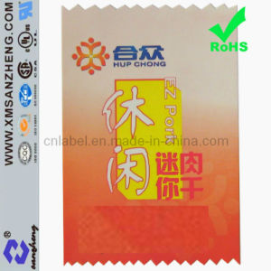 Private Clear Glossy Self Adhesive Weather Resistant Full Color Food Stickers pictures & photos