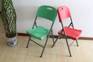White Plastic Blow Folding Chair pictures & photos