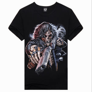 Low Price 3D Print Fashion Personalized Men Short Sleeve T-Shirt pictures & photos