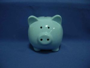 Christmas Gift Ceramic Pig Money Box (WF)
