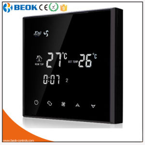 220V 3A Black Backlight Hotel Room Air Conditioning Thermostat pictures & photos