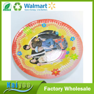 Wholesale Custom Disposable Food Grade Paper Party Plates for Party pictures & photos