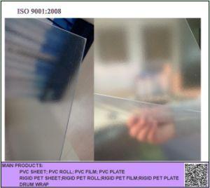 Clear Matt PVC Sheet, Transparent Embossed PVC Rigid Sheet for Silk-Screen Printing pictures & photos