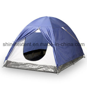 Single Layer Cheap Pop up Camping Tent with Fiberglass Pole pictures & photos