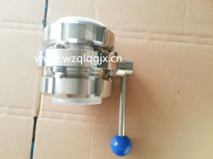 Sanitary Stainless Steel Three-Piece Butterfly Valve with Union pictures & photos