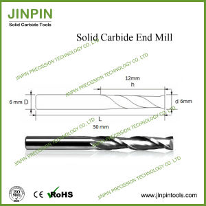 Solid Carbide Two Spiral Flute End Mill for PVC pictures & photos