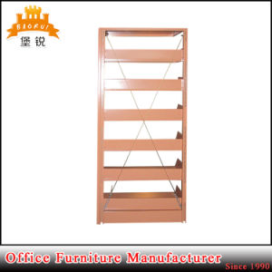 Good Quality School Office Wooden Color Metal Rack Book Shelf Magazine Shelf pictures & photos