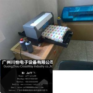 Textile Tshirt Fabric Flatbed Printer with Rip Color Software