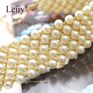 White Simulated Pearl Handmade Weave Choker Women Fashion Jewelry Elegant Necklaces pictures & photos